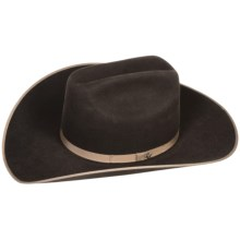 Bailey Carter Cowboy Hat - 6X Felt, Cattleman Crown (For Men and Women) in Chocolate - Closeouts