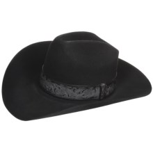 Bailey Day Money Cowboy Hat - 3X Felt, Graduated Crown (For Men and Women) in Black - Closeouts