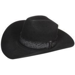 Bailey Day Money Cowboy Hat - 3X Felt, Graduated Crown (For Men and Women) in Black