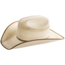 Bailey Dryden II Cowboy Hat - 10X Shantung Straw, Cattleman Crown (For Men and Women) in Ivory/Taupe - Closeouts