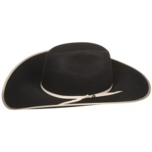 Bailey Edgewater Cowboy Hat - 6X Wool Felt, Cheyenne Crown (For Men and Women) in Black - Closeouts