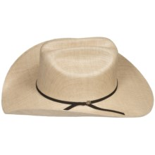 Bailey El Dorado Cowboy Hat - 10X Woven Paper, Cattleman Crown (For Men and Women) in Natural - Closeouts