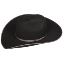 Bailey Flash Cowboy Hat - 2X Wool Felt, Cheyenne Crown (For Men and Women) in Black - Closeouts