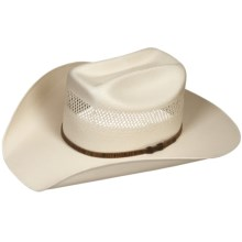 Bailey Hamilton Cowboy Hat - 10X Shantung Straw, Mustang Crown (For Men and Women) in Natural - Closeouts
