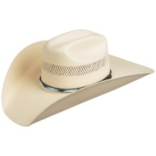 Bailey Harrington Cowboy Hat - 10X Shantung Straw, Cattleman Crown (For Men and Women) in Ivory - Closeouts