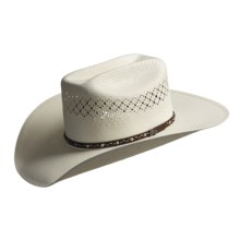 Bailey Jolson 7x Shantung Straw Cowboy Hat - Mustang Crown (For Men) in Ivory - Closeouts