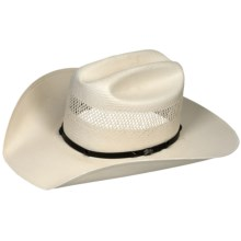 Bailey Lester Cowboy Hat - 10X Shantung Straw, Cattleman Crown (For Men and Women) in Ivory - Closeouts