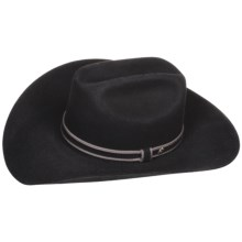 Bailey Milbank Cowboy Hat - 5X Wool Felt, Cattleman Crown (For Men and Women) in Black - Closeouts