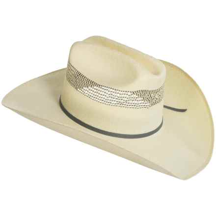 Bailey of Hollywood Alonzo Straw Cowboy Hat (For Men and Women) in Natural/Grey - Closeouts