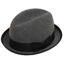 Bailey of Hollywood Basil Fedora - Lite Felt® Wool (For Men) in Pewter - Closeouts