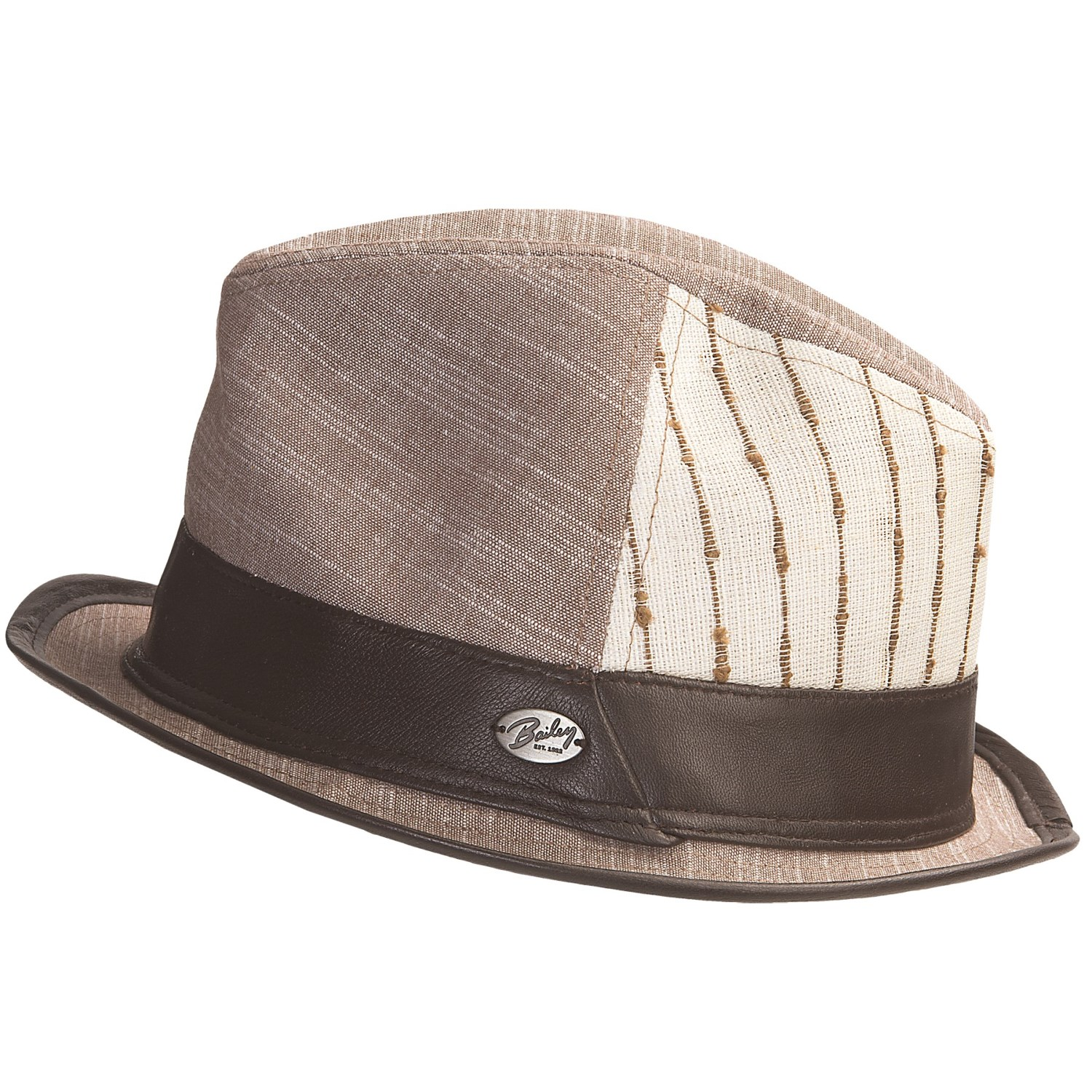 6d171c18ec8d8 Bailey Gangster Fedora Hat All Fedoras Bailey Fedora Hats For Men  Bailey  Of Hollywood Belvis Linen Fedora Hat (For Men