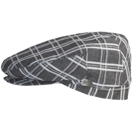 Bailey of Hollywood Cooke Plaid Cap (For Men) in Charcoal