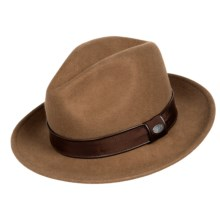 Bailey of Hollywood Donal Fedora - Wool Felt (For Men) in Pecan - Closeouts
