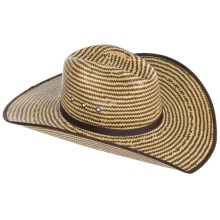 Bailey of Hollywood Keel Straw Cowboy Hat (For Men and Women) in Cork/Brown - Closeouts