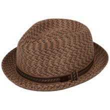 Bailey of Hollywood Mannes Fedora (For Men) in Chestnut Multi - Closeouts