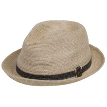 Bailey of Hollywood Raymus Abaca Fedora (For Men) in Natural - Closeouts