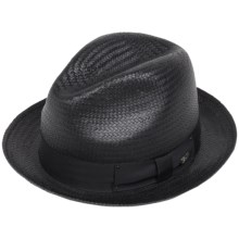 Bailey of Hollywood Suntino Straw Fedora (For Men) in Black - Closeouts