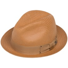 Bailey of Hollywood Suntino Straw Fedora (For Men) in Putty - Closeouts