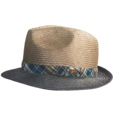 Bailey of Hollywood Tennessee Straw Fedora Hat (For Men) in Tan/Blue - Closeouts