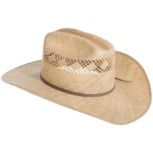Bailey of Hollywood Tex Straw Cowboy Hat (For Men and Women) in Natural Straw - Closeouts
