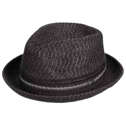 Bailey of Hollywood Vito Fedora (For Men) in Black Mix - Closeouts