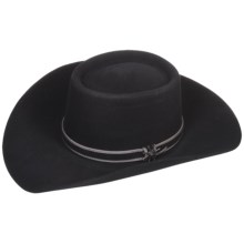 Bailey Ramrod Cowboy Hat - 3X Wool Felt, Telescope Crown (For Men and Women) in Black - Closeouts