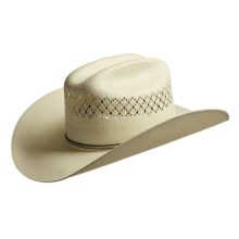 Bailey Richland Shantung Straw Cowboy Hat - Cattleman Crown (For Men) in Ivory - Closeouts