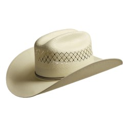 Bailey Richland Shantung Straw Cowboy Hat - Cattleman Crown (For Men) in Ivory