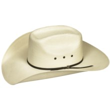 Bailey Tucker Cowboy Hat - 4X Shantung Straw (For Men and Women) in Natural - Closeouts