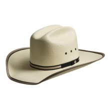 Bailey Wesley Cowboy Hat - Stockman Crown, Straw (For Men and Women) in Ivory - Closeouts