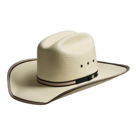 Bailey Wesley Cowboy Hat - Stockman Crown, Straw (For Men and Women) in Ivory