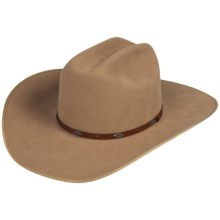 Bailey Whiskin Wool Felt Western Hat - Leather Hatband (For Men and Women) in Fawn - Closeouts