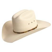 Bailey Woodrow 10x Straw Cowboy Hat - Cattleman Crown (For Men and Women) in Ivory - Closeouts
