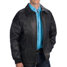 Baja Branding Company Leather Jacket with Fabric Accents (For Men) in Black/Black - Closeouts