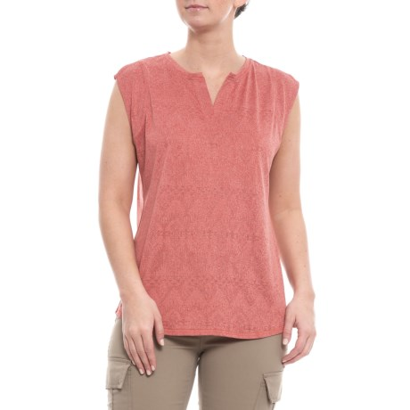 Image of Baked Clay Heather Eco Rich New Heights Shirt - Sleeveless (For Women)