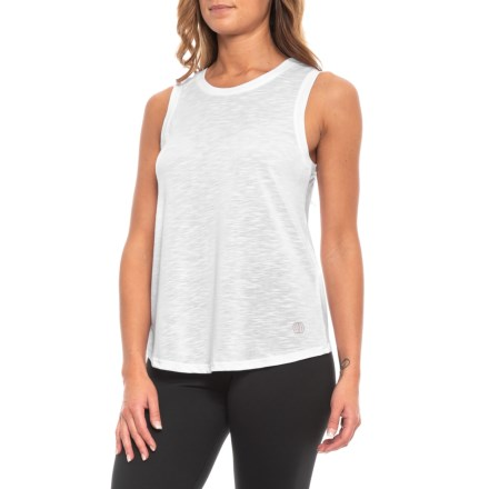 5f06118139a6ca Balance Canyon Singlet Tank Top (For Women) in White - Closeouts