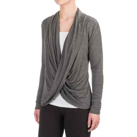 Balance Collection Artemis Cardigan Sweater - Stretch Rayon (For Women) in Heather Charcoal - Closeouts