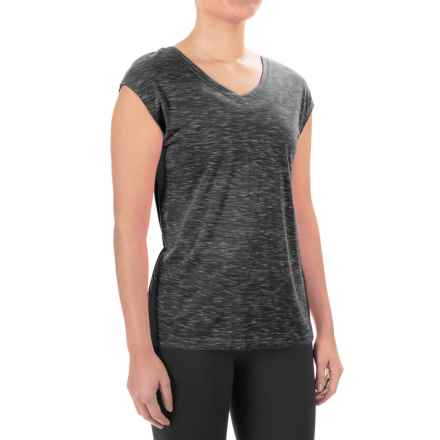 Balance Collection Aspire T-Shirt - V-Neck, Short Sleeve (For Women) in Heathered Black - Closeouts