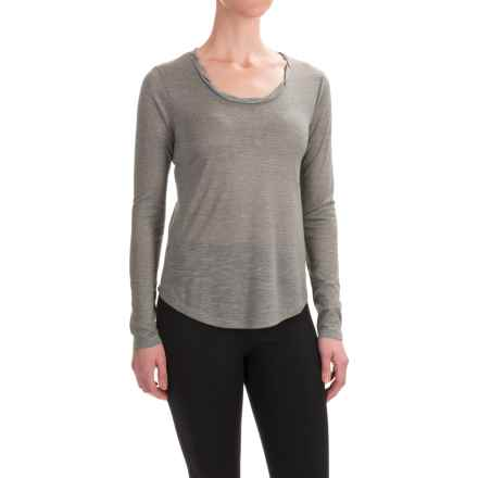 Balance Collection Audrey T-Shirt - Long Sleeve (For Women) in Gunmetal - Closeouts