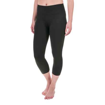 Balance Collection Basic Flat-Waist Capris (For Women) in Black - Closeouts
