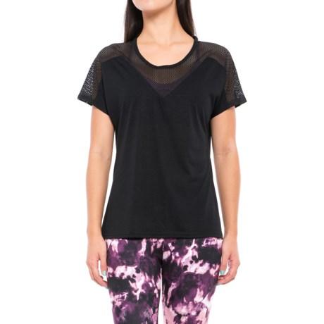 Balance Collection Black Brandy Shirt - Semi-Sheer Trim, Short Sleeve (For Women) in Black
