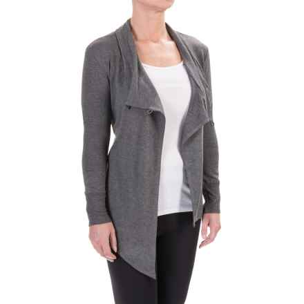 Balance Collection Button Cardigan Jacket - Stretch Rayon (For Women) in Heather Charcoal - Closeouts