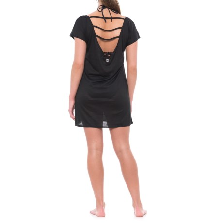 Balance Collection Coast Swimsuit Cover-Up - Short Sleeve (For Women) in Black