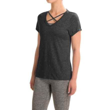 Balance Collection Crisscross T-Shirt - Short Sleeve (For Women) in Black - Closeouts