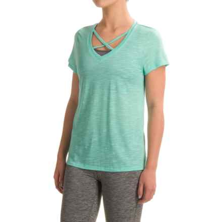 Balance Collection Crisscross T-Shirt - Short Sleeve (For Women) in High Tide - Closeouts