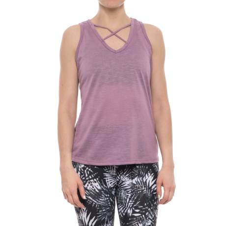 Balance Collection Crisscross Tank Top (For Women) in Valerian
