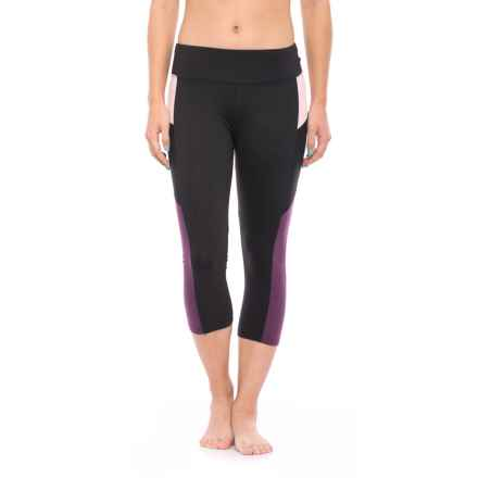 Balance Collection Dani Capri Leggings (For Women) in Black/Deep Purple - Closeouts