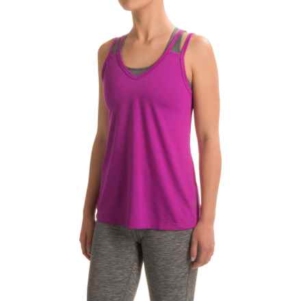 Balance Collection Double-V Tank Top (For Women) in Magenta Muse - Closeouts