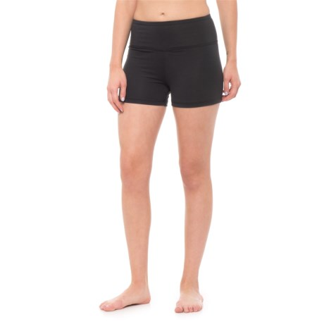 Balance Collection High Waist Solid Hottie Shorts (For Women) in Black