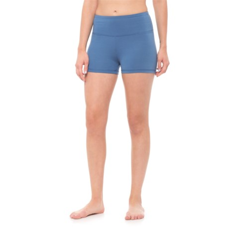 Balance Collection High Waist Solid Hottie Shorts (For Women) in Dutch Blue
